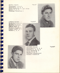 Senior pictures in the 1949 year book, The Guagus Alonzo served in the U.S. Army in both Korea and Vietnam Carlton served in the U.S Army in Korea Lawrence served in the U.S. Army in Korea Note: Alonzo and Lawrence are twins